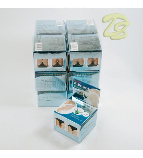 Отбеливающий крем для интимных зон с Алоэ Вера и Зеленым чаем от Isme, Whitening Leg Therapy Cream, 5 гр (набор 12 шт.)