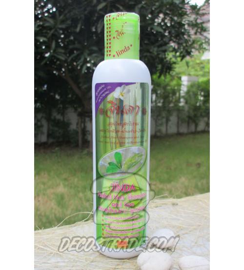 Шампунь против выпадения волос на травах с рисовым молоком от Jinda, Hair shampoo formula Mee leaves, 250 мл