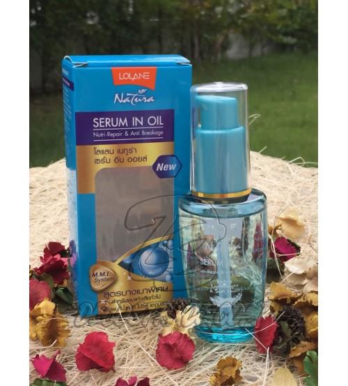 Сыворотка для волос «Защита масел» от Lolane, Serum in Oil Nutri-Repair & Anti Breakage, 50 мл