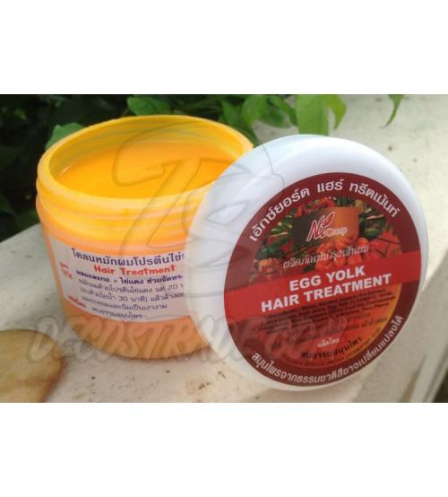 Лечебная маска для светлых волос с яичным желтком и папайей от Pobtham, Egg Yolk hair treatment, 300 мл