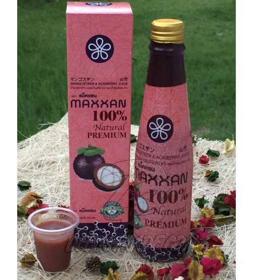 Натуральный сок мангостина и асаи от Maxxan, Mangosteen and Acaiberry Juice 100% Natural Premium, 250 мл
