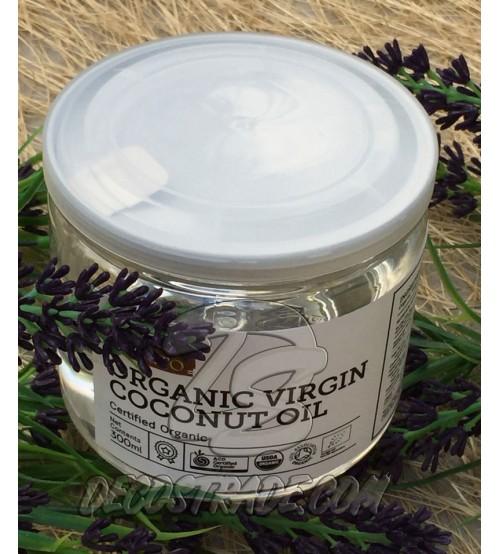 Натуральное 100% кокосовое масло холодного отжима 300 мл, Natural Coconut Oil 100% Gold Processed,
