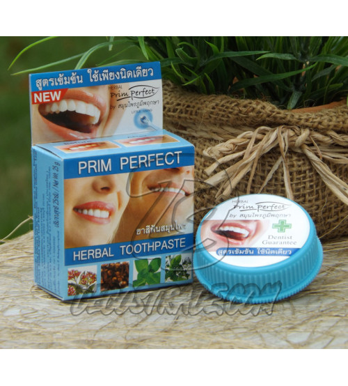Растительная зубная паста от Prim perfect,  Herbal toothpaste, 25 гр