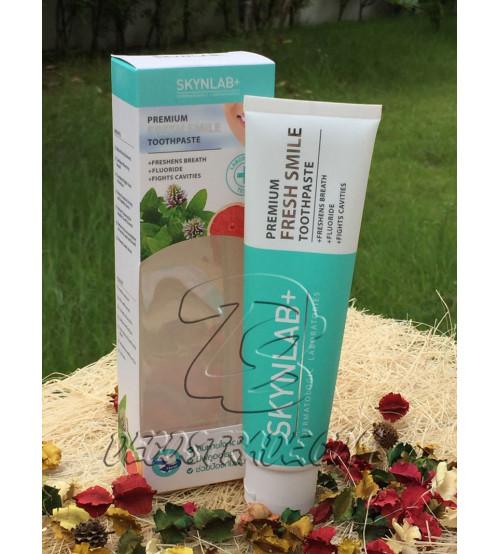 Премиальная, освежающая, растительная зубная паста от Skynlab, Premium Fresh Smile Toothpaste, 160 гр