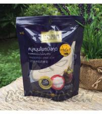 Спа-мыло «Мангостин» осветляющее в мешочке из люфы от Supaporn, Mangosteen Herbal Soap Spa, 70 гр