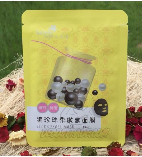 Тканевая маска с Черным жемчугом для яркой, фарфоровой кожи от Water Angel, Black Pearl Mask, 25 мл