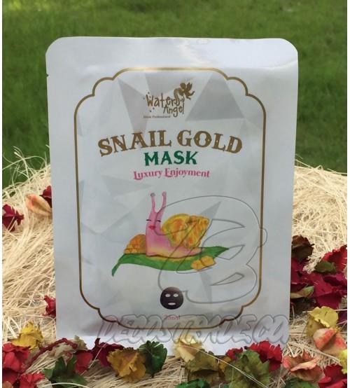 Тканевая маска с Золотом и Улиточным секретом для упругой кожи от Water Angel, Snail gold Mask, 25 мл
