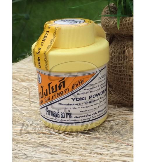 Антибактериальный тайский тальк против потливости и запаха, Yoki Powder, 60 гр